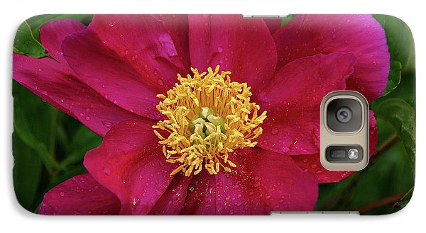 Galaxy Case featuring the photograph Peony In Rain by Sandy Keeton