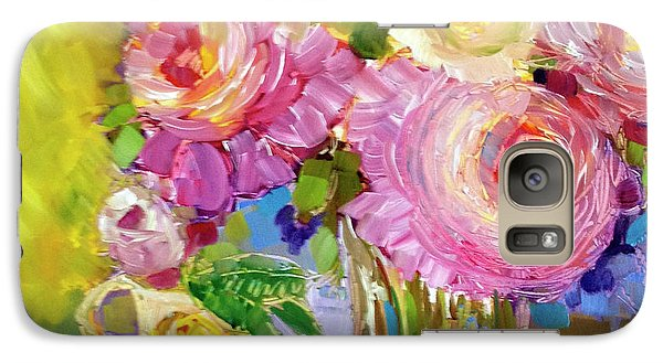 Galaxy Case featuring the painting Peony Love by Rosemary Aubut