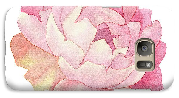 Galaxy Case featuring the painting Peony Watercolor  by Taylan Apukovska