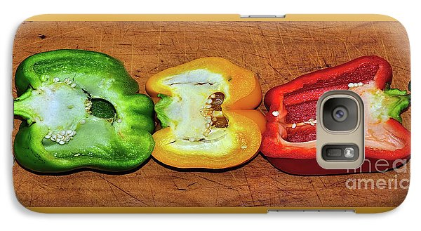 Galaxy Case featuring the photograph Peppers In A Row By Kaye Menner by Kaye Menner