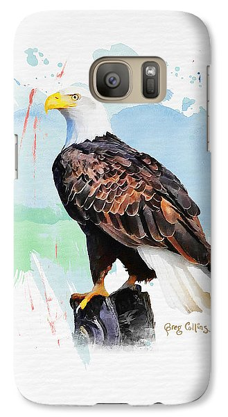 Galaxy Case featuring the painting Perched Eagle by Greg Collins