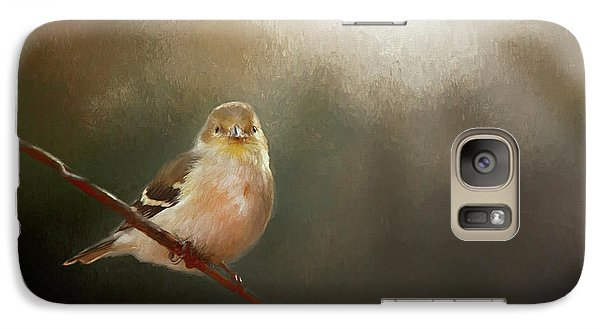 Galaxy Case featuring the photograph Perched Goldfinch by Darren Fisher