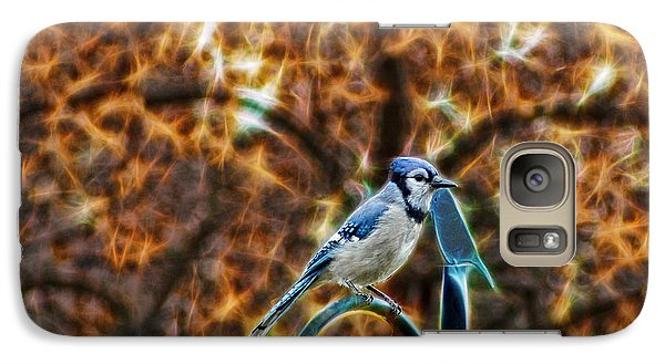 Galaxy Case featuring the photograph Perched Jay by Cameron Wood