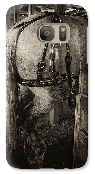 Galaxy Case featuring the photograph Percheron Draft Horse by Theresa Tahara