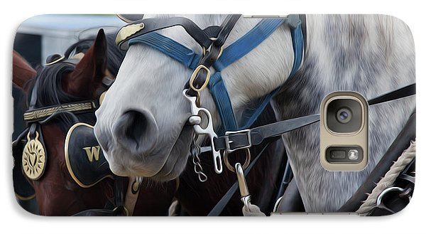 Galaxy Case featuring the photograph Percheron Horses by Theresa Tahara