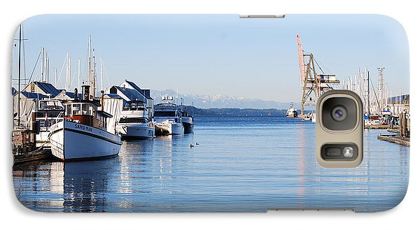 Galaxy Case featuring the photograph Percival Landing by Larry Keahey
