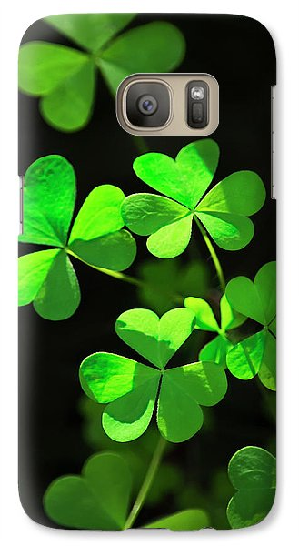 Perfect Green Shamrock Clovers Galaxy S7 Case by Christina Rollo