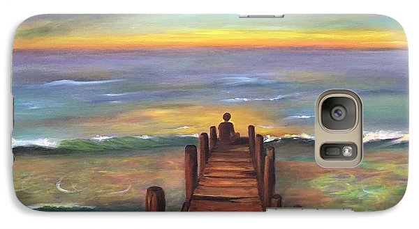 Galaxy Case featuring the painting Perfect Solitude  by Susan Dehlinger