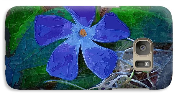 Galaxy Case featuring the digital art Periwinkle Blue by Donna Bentley