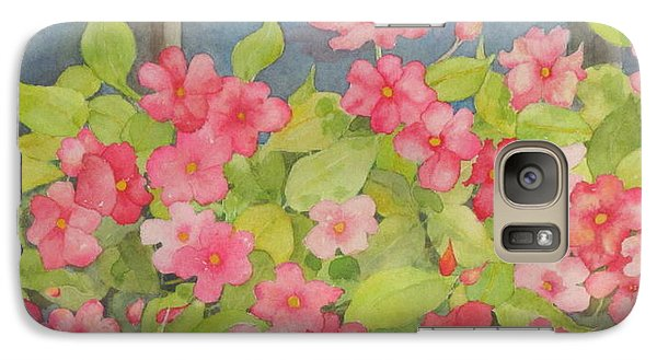 Galaxy Case featuring the painting Perky by Mary Ellen Mueller Legault