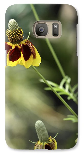 Galaxy Case featuring the photograph Perky Yellow by Barbara Middleton