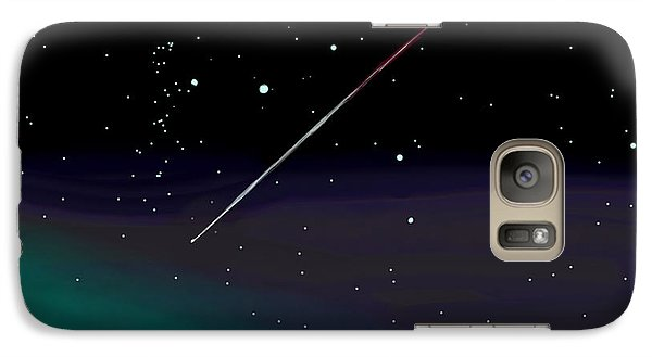 Galaxy Case featuring the digital art Perseid Meteor Shower  by Jean Pacheco Ravinski