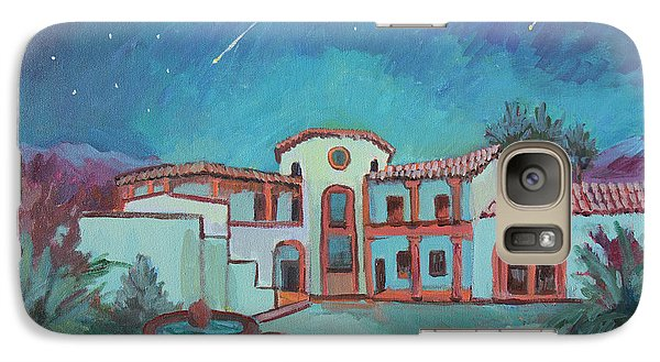 Galaxy Case featuring the painting Perseids Meteor Shower From La Quinta Museum by Diane McClary