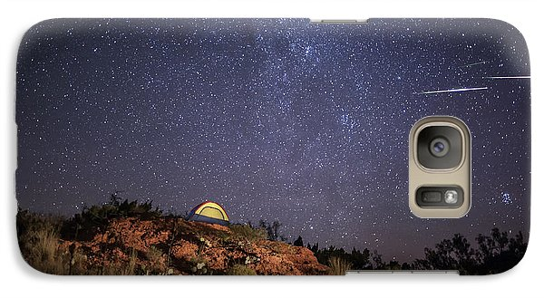 Perseids Over Caprock Canyons Galaxy S7 Case by Melany Sarafis