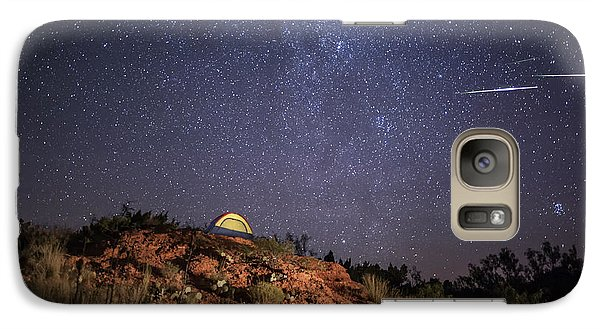 Galaxy Case featuring the photograph Perseids Over Caprock Canyons by Melany Sarafis