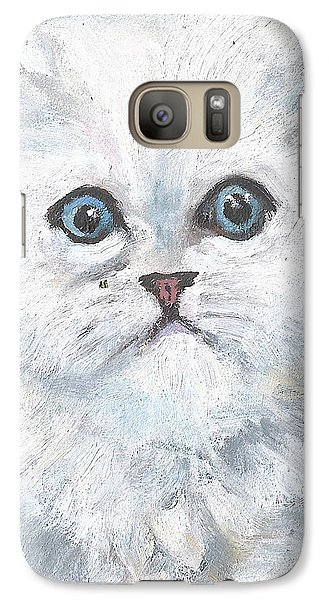 Galaxy Case featuring the painting Persian Kitty by Jessmyne Stephenson