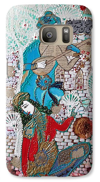 Galaxy Case featuring the painting Persian Painting # 1 by Sima Amid Wewetzer