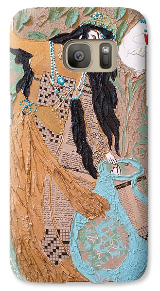 Galaxy Case featuring the painting Persian Painting 3d by Sima Amid Wewetzer