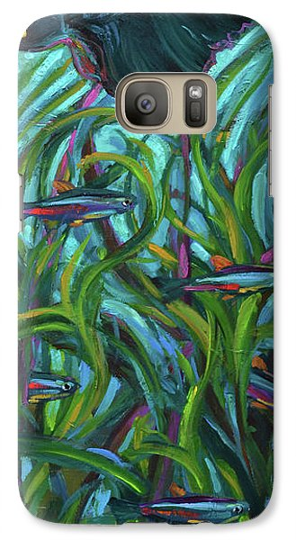 Galaxy Case featuring the painting Persistent Fish Betta  by Robert Phelps