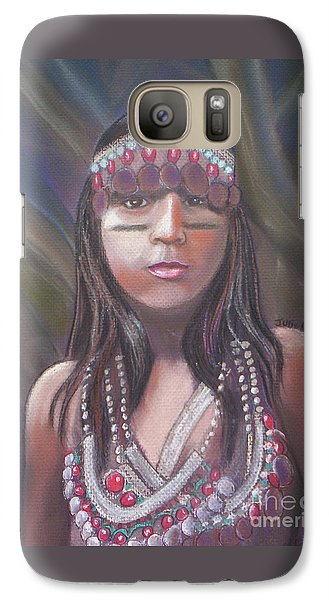 Galaxy Case featuring the pastel Peruvian Girl by Julie Brugh Riffey