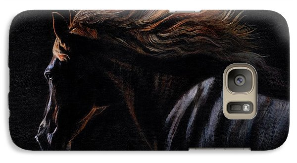 Galaxy Case featuring the painting Peruvian Paso Horse by David Stribbling