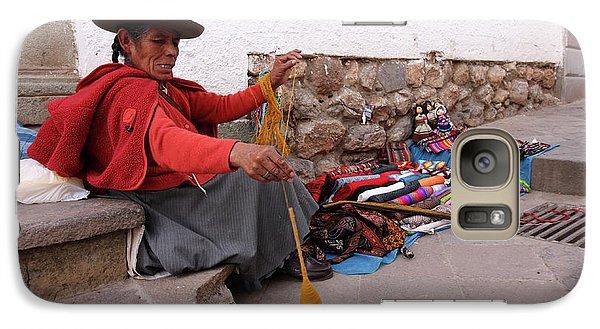 Galaxy Case featuring the photograph Peruvian Weaver by Aidan Moran