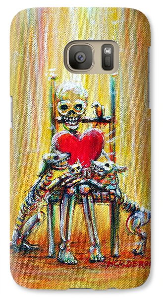 Galaxy Case featuring the painting Pet Love by Heather Calderon
