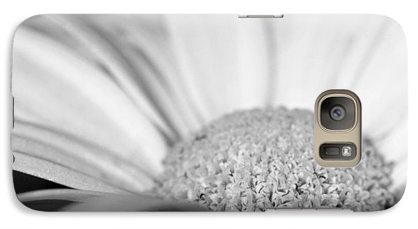 Galaxy Case featuring the photograph Petals - Black And White by Angela Rath