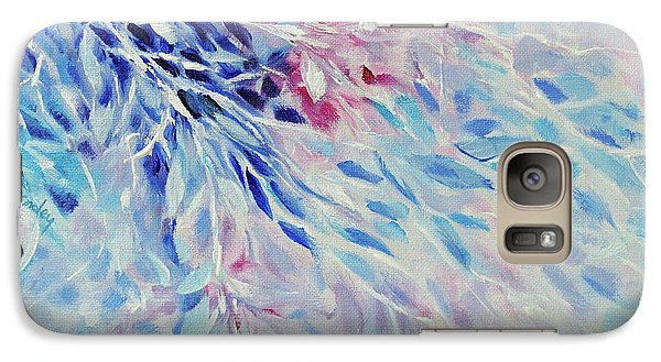 Galaxy Case featuring the painting Petals And Ice by Joanne Smoley