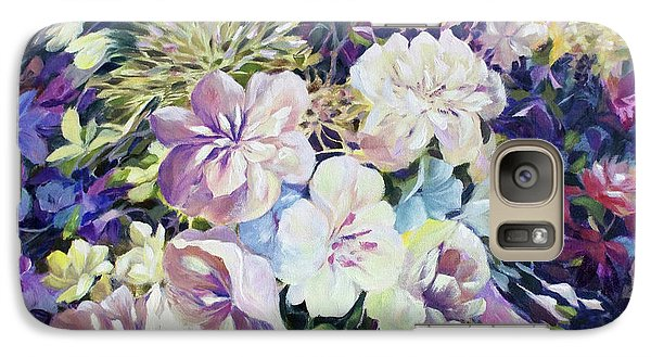 Galaxy Case featuring the painting Petals by Joanne Smoley