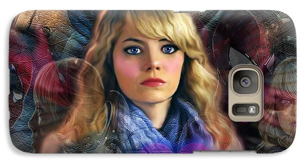 Galaxy Case featuring the digital art Peter Parker's Haunting Memories Of Gwen Stacy by Barbara Tristan