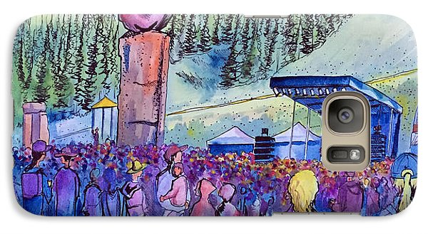 Galaxy Case featuring the painting Peter Rowen At Copper Mountain by David Sockrider