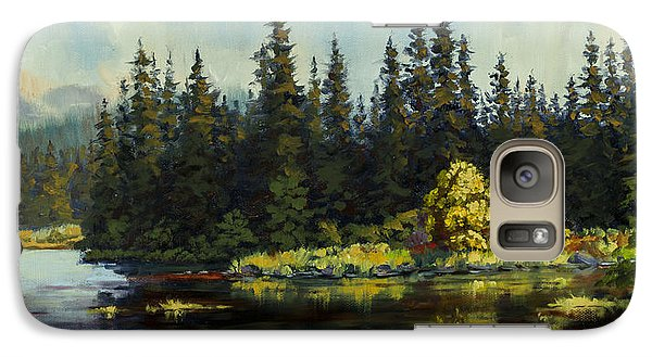 Galaxy Case featuring the painting Peterson Lake by Kurt Jacobson