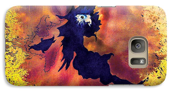 Galaxy Case featuring the painting Pete's Speed Of Light by Albert Puskaric