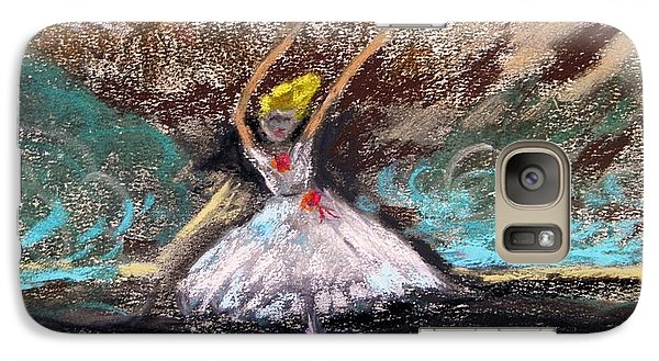 Galaxy Case featuring the painting Petite Ballerina by Mary Carol Williams