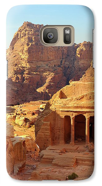 Galaxy Case featuring the photograph Petra Buildings, Pond And Gardens Complex by Nicola Nobile