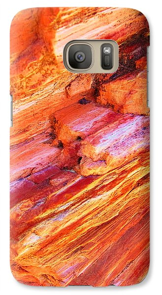 Galaxy Case featuring the photograph Petrified Abstraction No 1 by Andreas Thust