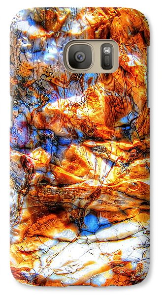 Galaxy Case featuring the photograph Petrified Abstraction No 3 by Andreas Thust