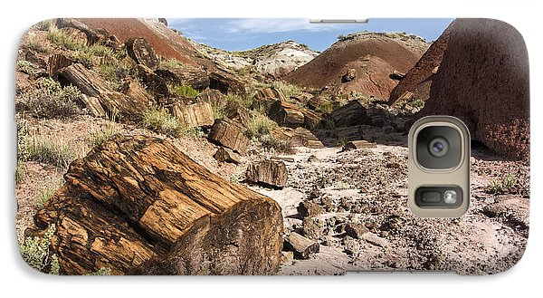 Galaxy Case featuring the photograph Petrified Wood In The Painted Desert by Melany Sarafis