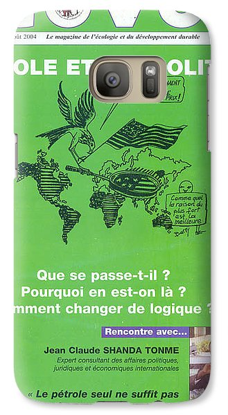 Galaxy Case featuring the painting Petrole Et Geopolitique by Emmanuel Baliyanga