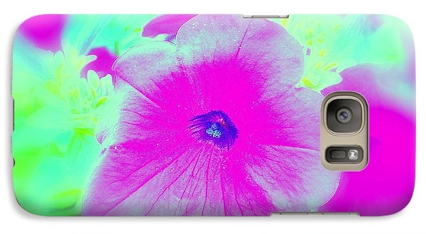 Galaxy Case featuring the photograph Petunia Glow E by Greg Moores