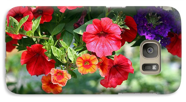 Galaxy Case featuring the photograph Petunias by Denise Pohl
