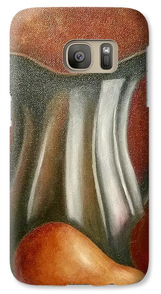 Galaxy Case featuring the painting Pewter Reflections  by Susan Dehlinger