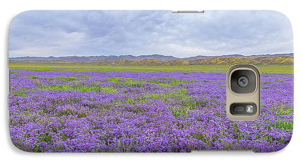 Galaxy Case featuring the photograph Phacelia Field by Marc Crumpler