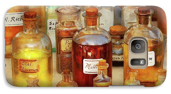 Galaxy Case featuring the photograph Pharmacy - Serums And Elixirs by Mike Savad