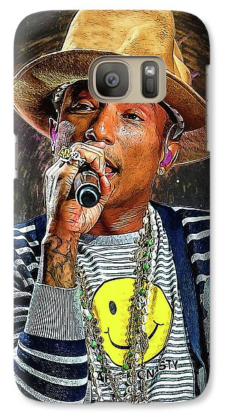 Jay Z Galaxy S7 Case - Pharrell Williams by Semih Yurdabak