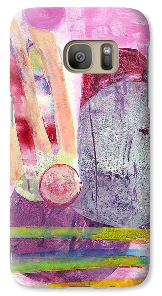 Galaxy Case featuring the painting Phases by Mary Schiros