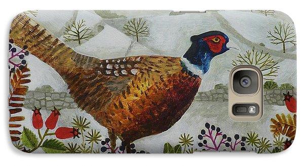 Pheasant And Snowy Hillside Galaxy S7 Case