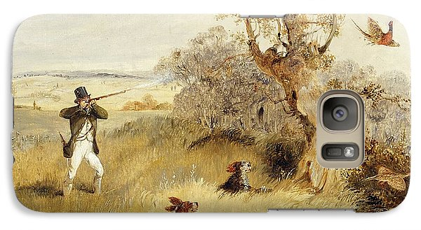 Pheasant Shooting Galaxy Case by Henry Thomas Alken