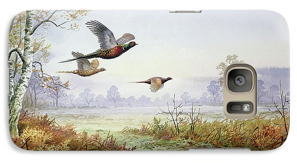 Pheasants In Flight  Galaxy S7 Case by Carl Donner